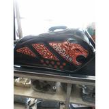 Tanque De Gasolina Para Moto Jaguar Ava (negro)