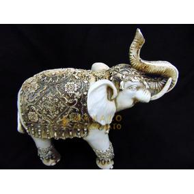 Elefante Decoração Sorte Sabedoria Resina Estatua Prosperida