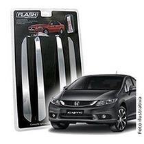 _friso Para-choque Cromado Honda New Civic 02 03 04 Jg 4pçs