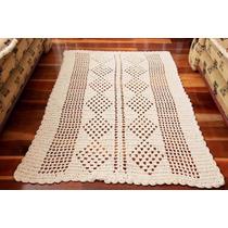 Tapete De Croche Retangular 1,60 X 1,10 Para Sala +quadrado