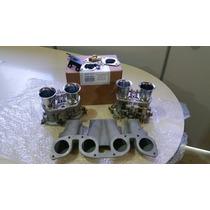 Kit Dupla Weber 40 - Motor Ap. - Coletor Aluminio Turbo Aspi