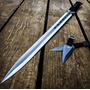 Ninjato Doble Filo Acero 440 Hoja Full Tang Con 2 Kunais