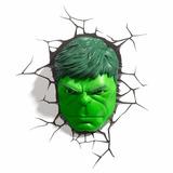 Luminária Avengers Rosto Do Hulk - 3d Light Fx