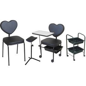 Kit Manicure Plus Love: Cirandinha, Cadeira, Carrinho, Tripé