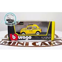 Autos A Escala Fiat 500 Taxi Bburago 1/24