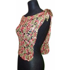 Capa Tejida En Cinta De Seda Al Crochet Talle Único Tv-002