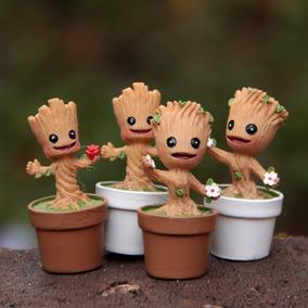 4 Baby Mini Groot Guardiões Da Galaxia 4,8c Miniatura Marvel