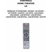 Controle Remoto Home Theater Lg 6710cdat06d Hs3006 Lh-t252c