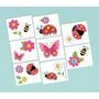 Tattoos Temporales Flores Mariposas Coquito -garden Girl X16
