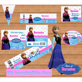 Kit Imprimible Ana Frozen