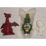 Shrek Lote C/3 Itens Relógio Gato De Botas Garoto Dragão Mcd