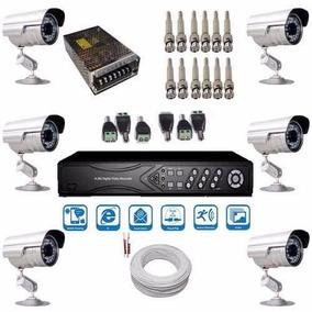 Kit 6 Câmeras Infravermelho Comercial E Residencial