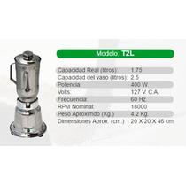 Licuadora Industrial/comercial Marca Tapisa Modelo T2l Acero