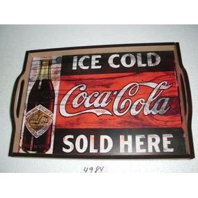 Bandeja Decorativa Coca Cola - Mdf 9 Mm - 41 Cm X 29 Cm 4984