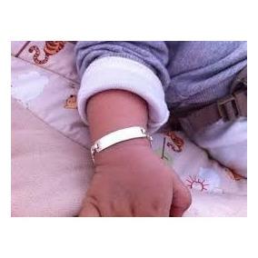 Esclava Pulsera Bebe Niña Niño En Plata Fina .925