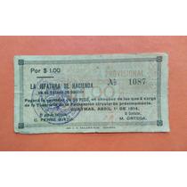 Si-son-10 Billete De Sonora De 1 Peso