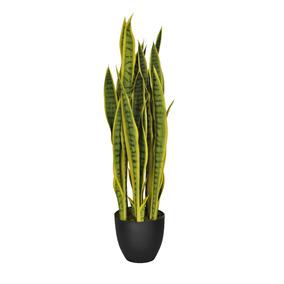 Espada De São Jorge Artificial Com Vaso 85 Cm Plantas
