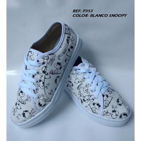 Calzado Zapato Bolichero Moda Snoopy Mujer Dama Envió Gratis