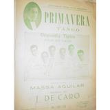 Partitura Tango Primavera Orquesta Julio De Caro Aguilar