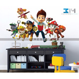 Vinilo Decorativo 3d Paw Patrol 1 Calcomanía De Pared Perros