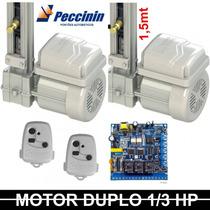 Kit Motor Duplo Portão Basculante Peccinin 1/3 Hp 1,5mt