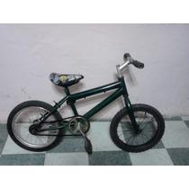 Bicicleta Verde De Salto Rodada 16 Para Niño