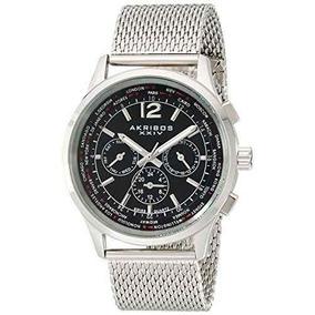 Reloj Akribos Xxiv Ak716ssb Plateado Masculino