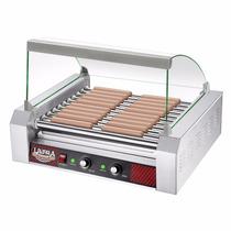 Parrilla Hot Dog Maquina Comercial 30 Salchichas 2 Controles