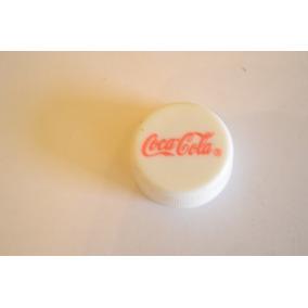 Tapita Chapita Plastica Gaseosa Marca Coca-cola Blanca