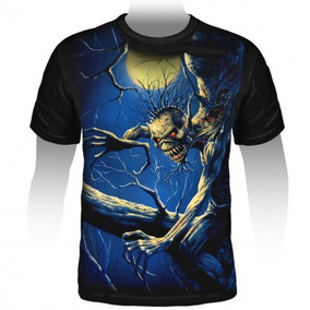 Camiseta Iron Maiden Fear Of The Dark (estampa Grande)