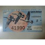 Billete De Loteria Antiguo Patos Voland 20 Enero 1975 México