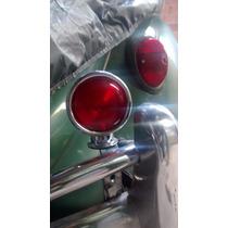 Lanterna Cromada C/ Suporte.freio/stop Rubi Fusca.