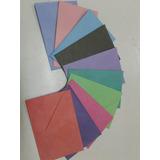 Sobres Mini Super Colores P/ Tarjetas Pack 100, 7 X 10,5
