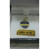 Dije Escudo Boca Oro 18 Kilates Y Clubes Fútbol Esmaltados