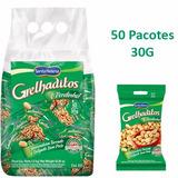 Amendoim Torrado Sem Pele Grelhaditos 30g - 50 Pacotes