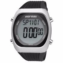 Relógio Mormaii Pulseira De Borracha Caixa De Aço Y11099/8p