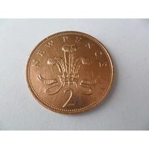 Inglaterra Moeda 2 New Pence Ano De 1971 Coleção Soberba