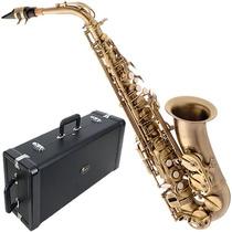 Saxofone Alto Em Mib Envelhecido + Case Luxo Sa500vg Eagle