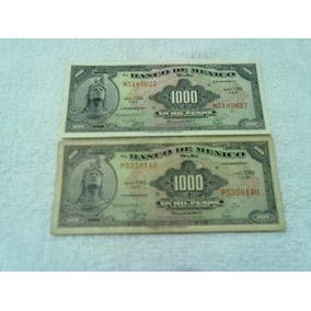 Coleccion De Dos Billetes Antiguos En Excelente Estado