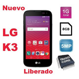 Celular Lg K3 , 4g, Quad-core, 1gb Ram, 8gb, 5mp, Android 6