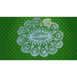Carpeta De Hilo Ovalada Tejida A Crochet