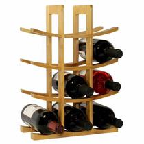 Cava De Madera Fina Porta 12 Botellas De Vino Color Madera