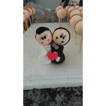 Lembrancinha Casamento Noivinhos Biscuit C/24 Unidades