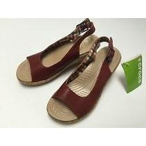 Crocs Zapatos Sandalias 26 Playa Color Vino Envio Gratis