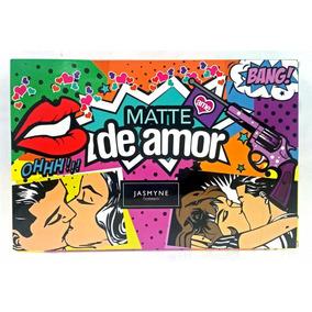 Kit Paleta Maquiagem 3d Jasmyne Matte De Amor + 22 Pinceis