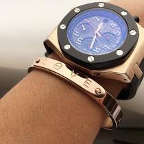 Bracelete Masculino Em Aço Inox 316l Banhado Ouro 18k