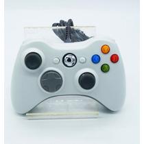 Controle Manete Joystick Branco Xbox 360 E Pc Com Fio