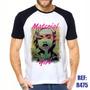 Camisa Raglan Material Girl Madonna Pop Estilo Swag Thug