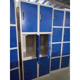 Lockers 8 Puertas Con Cerradura Nuevos Guardarropa Metalico