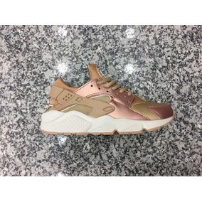 Zapatos Nike Air Max Huarache Bronce Para Damas Y Caballeros